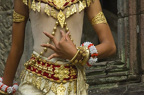 Apsara dancer, Ta Som Temple, Angkor, Siem Reap, Cambodia