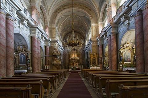 Baroque Jesuit Church, interior, Sibiu, Transylvania, Romania