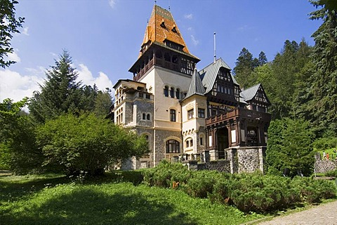 Pelisor Castle, Simiu, Wallachia, Carpathian Mountains, Romania - 832-251164