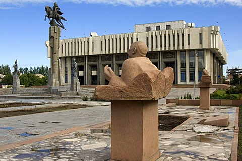 Statue in front of the Philharmonic house, Bishkek, Kyrgystan