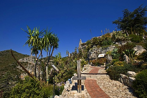 Eze, Jardin Exotique, village, Provence-Cotes-des-Alpes-d'Azur, France, Europe