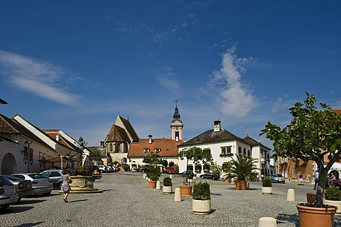 Fischerkirche Church and cityscape, Rust, Burgenland, Austria, Europe