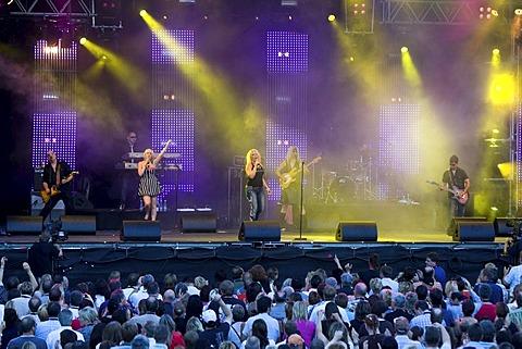 British singer Kim Wilde live at the Sommerabend Open Air on the Heitere in Zofingen, Switzerland