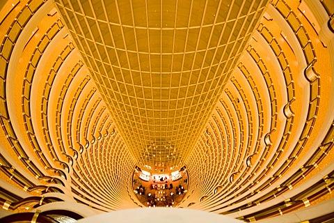 Lobby, Grand-Hyatt, Jin-Mao-Tower, Shanghai, China, Asia - 832-252391