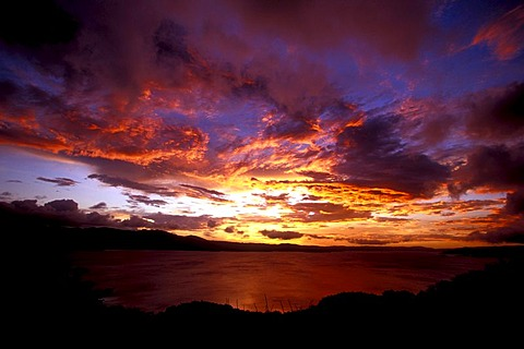 Sunset, Lake Arenal reservoir, Costa Rica, Central America