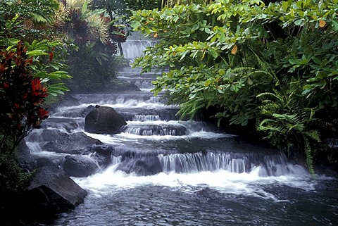 Tabacon, hot springs near Arenal Volcano, Costa Rica, Central America