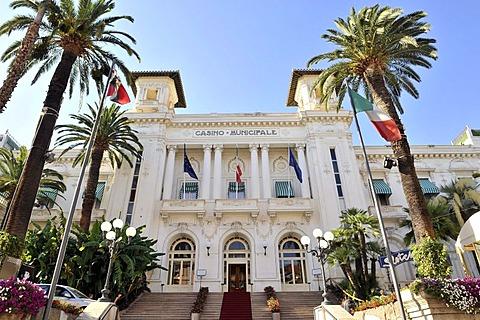 San Remo Casino, Riviera dei Fiori, Liguria, Italy, Europe