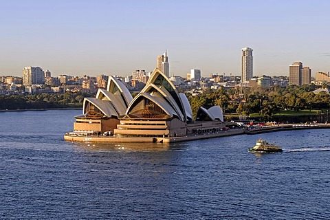 Sydney Opera House seen from the Harbour Bridge, Sydney, Australia