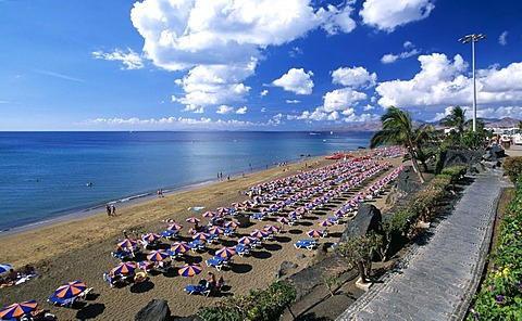 Playa Blanca at Puerto del Carmen, Lanzarote, Canary Islands, Spain, Europe