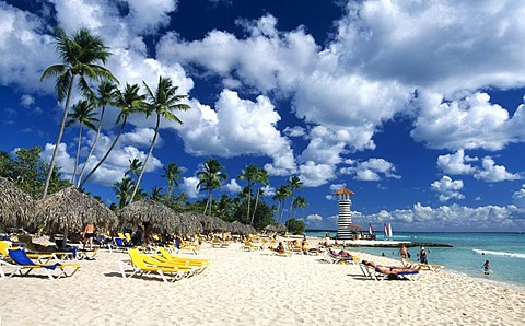 Palm beach in Bayahibe, Dominican Republic, Caribbean
