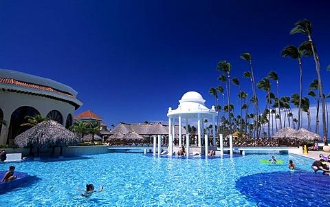 Swimming pool, Paradisus Palma Real Hotel in Playa Bavaro, Punta Cana, Dominican Republic, Caribbean
