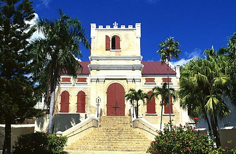Frederik Lutheran Kirche in Charlotte Amalie, St. Thomas Island, United States Virgin Islands, Caribbean