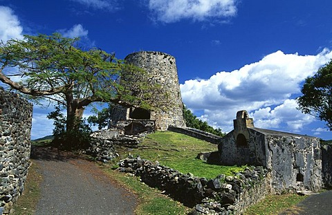 Annaberg Sugar Mill Ruins, St. Thomas Island, United States Virgin Islands, Caribbean