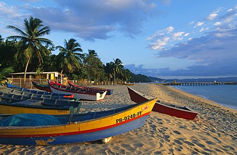 Fishing boats, Crasboat Beach, Aquadilla, Puerto Rico, Caribbean