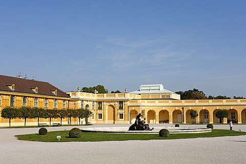 Forecourt in front of Schoenbrunn Palace, Vienna, Austria, Europe