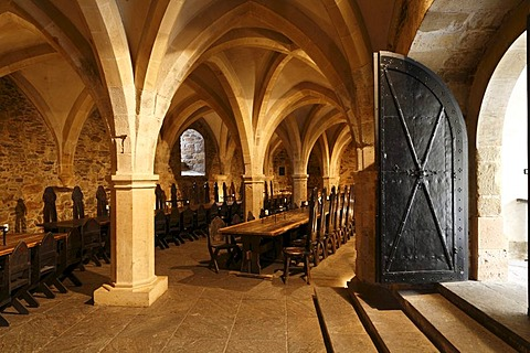 Knight's Hall at Lockenhaus Castle, Burgenland, Austria, Europe