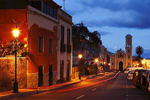 Evening mood in Hermigua, La Gomera, Canary Islands, Spain, Europe