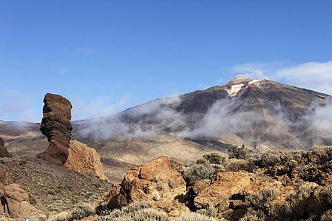 Roques de Garcia, Teide Volcano, Canadas del Teide National Park, Tenerife, Canary Islands, Spain, Europe
