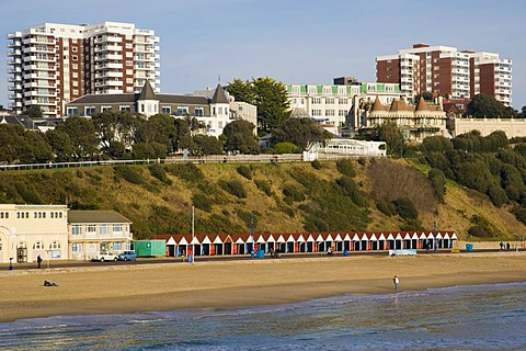 Bournemouth seaside, view from Bournemouth Pier, Dorset, England, United Kingdom