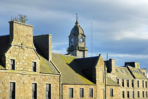 Historic city houses in Aberdeen, Scotland, Great Britain, Europe