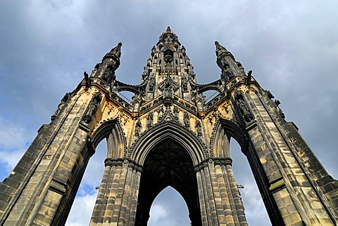 The Scott Monument, Edinburgh, Scotland, Great Britain, Europe