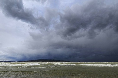 Hurricane Quinten above Lake Constance, district of Konstanz, Baden-Wuerttemberg, Germany, Europe