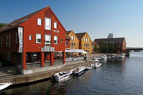 Yacht harbour of Kristiansand, Norway, Scandinavia, Europe