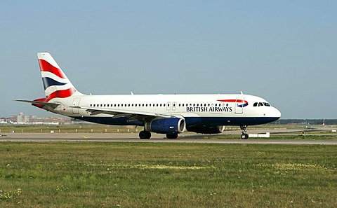 British Airways Airbus at Frankfurt Airport, Frankfurt, Hesse, Germany, Europe