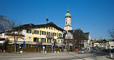 Atlas Posthotel Hotel, Garmisch-Partenkirchen, Bavaria, Germany, Europe