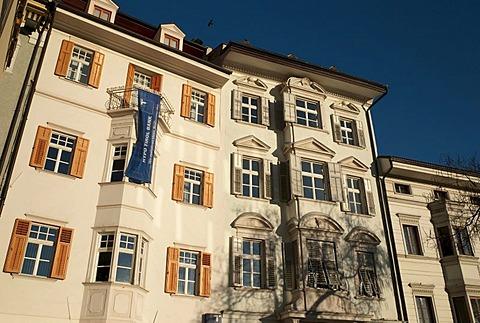 Hypo Tirol Bank in the historic town centre of Bolzano, Alto Adige, Italy, Europe