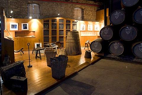 Exhibition at Graham's Port Wine House on Rua Rei Ramiro, Vila Nova Gaia, Porto, UNESCO World Cultural Heritage Site, Portugal, Europe - Propertyrights www.symington.com JD@symington.com