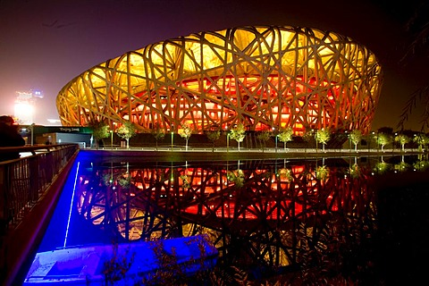 Olympic stadion, Peking, China, Asia