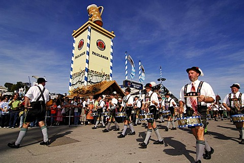 Opening ceremony, entering of the breweries, Wies'n, October fest, Munich, Bavaria, Germany, Europe