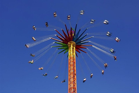 Star flyer, chain carousel, Wies'n, Oktoberfest, Munich, Bavaria, Germany, Europe