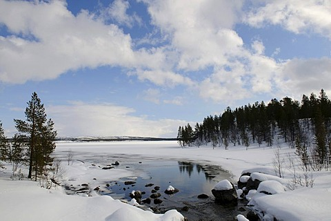 Inari Lake near Partakko, Finland, Europe