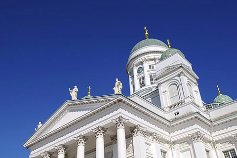 Tuomiokirkko, Helsinki Cathedral, partial view, Helsinki, Finland, Europe
