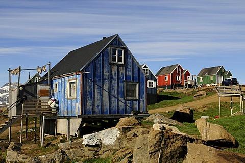 Village Tasiilaq, Ammassalik, East Greenland, Greenland
