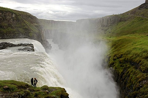 Gullfoss, The Golden Waterfall, Iceland, Europe