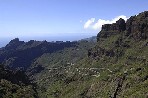 Masca canyon, Cumbre de Bolico, Tenerife, Canary Islands, Spain, Europe