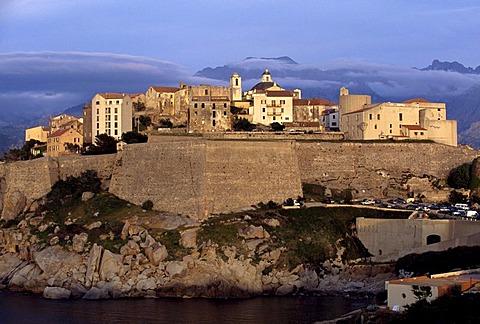 Calvi with citadel, Corsica, France, Europe
