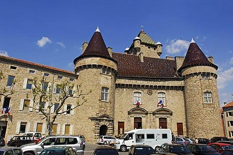 Castle, historical building, Ardeche, Rhone-Alpes, France, Europe