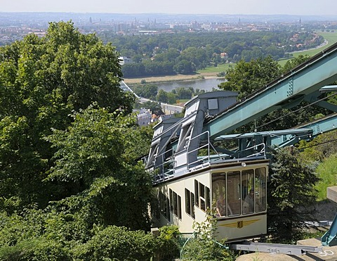 Bergschwebebahn or elevated mountain railway, Dresden, Saxony, Germany, Europe