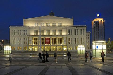 Opera House, Augustusplatz, Leipzig, Saxony, Germany, Europe