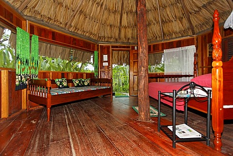 Sun Creek Resort, interior view, Punta Gorda, Belize, Central America