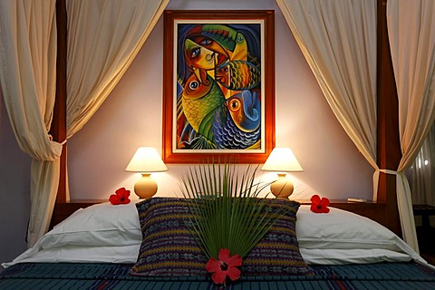 Hotel room, Hamanasi Hotel, Hopkins, Dangria, Belize, Central America, Caribbean - 832-262913