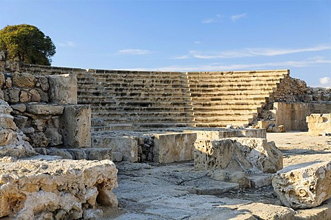 Antique Roman amphitheatre, UNESCO World Heritage Site, Kato, Paphos, Pafos, Cyprus, Europe