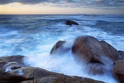 Waves and surf in Hat Head National Park, New South Wales, Australia