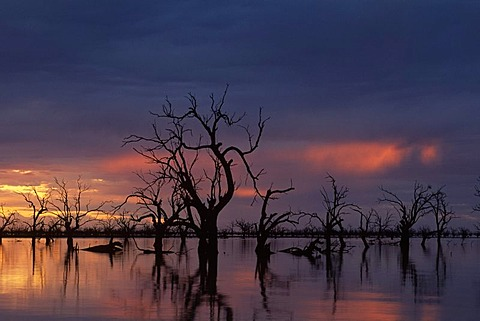 Sunset at Lake Pamamaroo, New South Wales, Australia