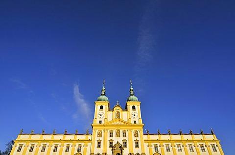 "Baroque ""Basilica Minor"", Church of Visitation of Virgin Mary, on Svaty Kopecek, Holy Hill, near Olomouc, Czech Republic, Europe"