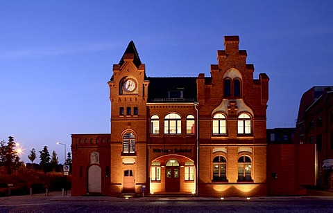 Former Woerlitz train station, now part of the Federal Environment Agency, Dessau, Saxony-Anhalt, Germany, Europe